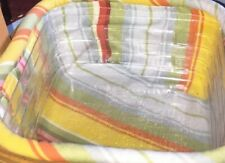 Longaberger Tall Tissue Basket Liner Only New Sunny Day Stripe