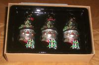 Silvestri Santa Ornaments Christmas set of 3