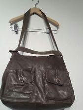 Manila Grace Ladies 2 Way Leather Brown Large Handbag