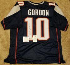Josh Gordon Signed Custom Jersey New England Patriots Beckett Witnessed COA