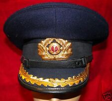 EAST GERMAN NAVY SENIOR OFFICER'S VISOR CAP - SIZE 56 W/BOTH TOPS!