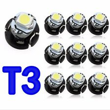 100XCar White 1 SMD 1210 For T3 LED Bulbs Instrument Lamp Interior Light 5 color