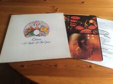 QUEEN A NIGHT AT THE OPERA LP UK PRESSING 1975 ORIGINAL & INNER EMBOSSED COVER 2