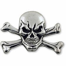 "Western Equestrian Tack Antique Silver Skull/Crossbones 1 1/2"" Concho"