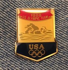 Swimming Olympic Pin~Usa Team~1988 Summer Games~Seoul, Korea~by HoHo Nyc