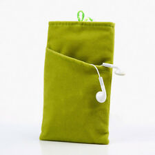 Double Pouch Soft Flannel Velvet Case Cover Bag for CellPhone iPhone Samsung New