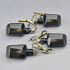 4x Motorcycle Bulb Amber Turn Signal Indicators Light Smoke Lens Universal J10