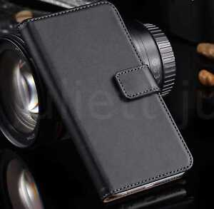 Black Leather Wallet Card Holder Case Samsung J6 A6 A5 A8 PLUS 2018 S7 S8 S9+