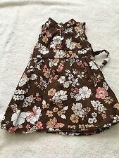 Old Navy girls 12-18 months sleeveless dress brown floral dressy summer spring