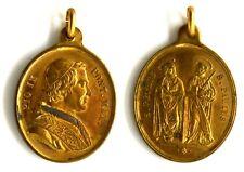 Medaglia Papale Pio IX Pont. Max. – S. Petrus S. Paulus Metallo Dorato