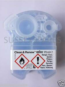 BRAUN CCR CLEAN AND RENEW CARTRIDGE, SERIES 1 3 5 7 9, CLEANING REFILL, UK STOCK