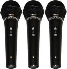 Three Pack Handheld Dynamic Cardioid Vocal Mic w/ Cables Holders Case KS-5000