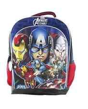 Marvel Avengers Assemble Red & Blue Basic Student Bag Backpack Bookbag - NWT