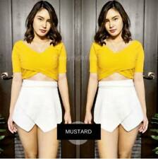 Avril Crisscross Top F1 (Mustard)