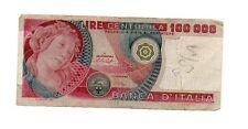banconota centomila lire botticelli cartamoneta 100000 usata