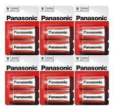 6x 2 Pcs Pack Panasonic R20R-2BP D Size Battery (12 Batteries) - New