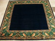 Mid Night Gabbeh Afghan Blue Square Area Rug Hand Knotted Carpet (6.5 x 6.8)'