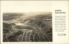 Grand Coulee Dam Aerial View Real Photo Postcard