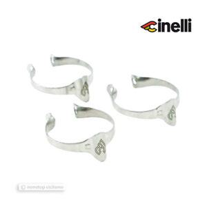 NEW Cinelli SUPERCORSA Top Tube Cable Clamps : 25.4mm - Set of 3
