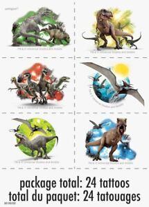 Jurassic World Temporary Tattoos 24 Ct on 4 Sheets