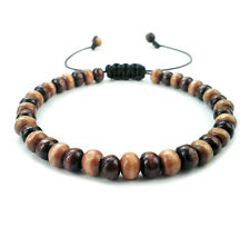 men's beaded shamballa wooden mala beads bracelet wristband cuff friendship gift