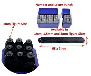 Number or Letter Punch from 1mm to 10mm Sizes Metal Stamp Security