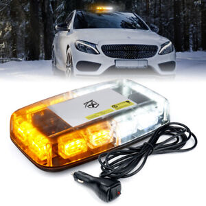 Xprite Magnetic 36 LED Rooftop Strobe Light for Warning for Trucks Amber White