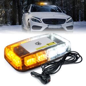 Xprite 36 LED Rooftop Strobe Light for Emergency Warning for Trucks Amber White