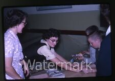 1962 kodachrome Photo slide teen girls and boys at carnival games  Oregon #2
