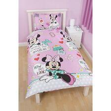 Disney Minnie Mouse Girls Makeover Reversible Duvet Cover Bedding Set