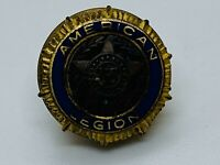VINTAGE Official American Legion Bronze Gold Plated Screw Back Pin