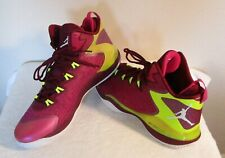 NEW Nike Jordan Super.Fly 3 Mens Basketball Shoes 14 Fusion Pink/Volt MSRP$140