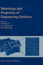 Metrology and Properties of Engineering Surfaces (Sensor Physics and Technology)