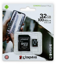 Kingston 32gb Micro SD SDHC Memory Card UHS 1 Class 10 With Adapter Phone Camera