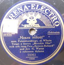 polish 78 RPM- syrena electro-REBEKA- morskie oko theater -astona- h. warsa