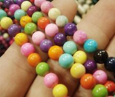 4MM Turkey Multi Color Turquoise loose Beads 15 ""