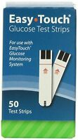 Easy Touch Blood Glucose 50 Test Strips, Exp: 2018-09, FREE SHIPPING