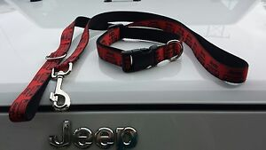 Red Jeep Dog Collar or collar & leash sets