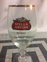 Authentic STELLA ARTOIS Gold Rimmed Beer Glass Chalice Belgium 33 cl Marines
