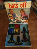 """Hats Off"" Vintage 1960s Board Game very rare not complete!"