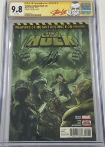 Totally Awesome Hulk #22 Autograph Signed Stan Lee CGC 9.8 SS 1st Weapon H MCU