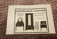 Bartholomew & Fletcher Furniture - 1906 Advertisement