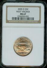2005-D WEST VIRGINIA Quarter Grade MS67 by NGC..