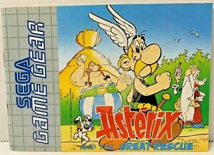 Sega Game Gear ASTERIX AND THE GREAT RESCUE Instruction Manual 1993 France