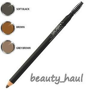 GOSH EYEBROW PENCIL with brow brush BROWN / GREY BROWN / SOFT BLACK *Freepost*