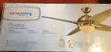 """Kichler low energy fan with light. 52"""" blade sweep, oil brushed bronze color"""