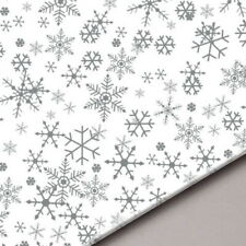 More details for christmas snowflake acid free tissue paper sheets gifts hampers - 18gsm