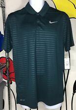 NW Nike Men SZ M Dri Fit Essential Polo Shirt 929102 372 Embossed