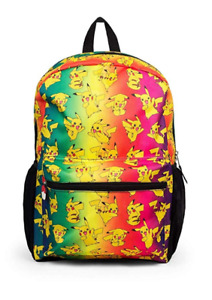 "Pokemon All Over Print Ombre Pikachu 16"" Regular Backpack"