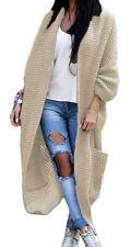 Damen Strickjacke Pullover Pulli Jacke Oversize Boho S M L XL (629)